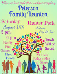 Family Reunion Flyers Templates 210 Reunion Flyer Customizable Design Templates Postermywall