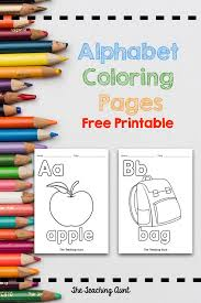 Animal abcs and more pictures and sheets to print and color. Alphabet Coloring Pages Free Printable The Teaching Aunt