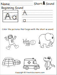 We'll send only special offers and product news. Free Beginning Sounds Worksheet Short A Free4classrooms
