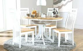white round kitchen table oak and 4 chairs dining room for sets modern