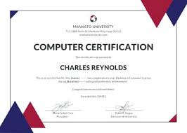 Graduation Certificate Template Word Amazing Free Computer Diploma Certificate Template In Adobe Sample Word