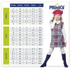 Shoes Size Conversion Table Primigi
