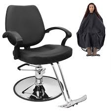 Bellavie Classic Hydraulic Barber Chair Salon Beauty Spa Hair Styling Black w/Barber Cape