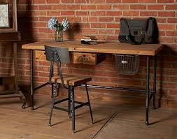 wooden desks for home office. reclaimed wood desk with metal legs wooden desks for home office e