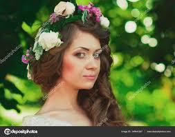 Svatební účes A Nevěsty Make Up Stock Fotografie Trofalena