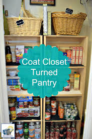 check out this beautiful and easy way to convert an ordinary coat closet into a pantry