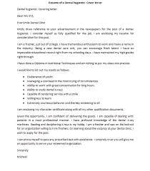 Dental Hygienist Cover Letter Omfar Mcpgroup Co