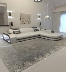 Modern l shaped couch Fabric Detalles Acerca De Modern Shaped Sofa Couch Design Leathersofa Dallas With Led Lights White Black Ebay Modern Shaped Sofa Couch Design Leathersofa Dallas With Led Lights