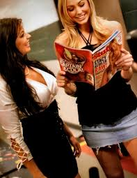 Candice Michelle with Stacy Keibler | Wrestle stars via Relatably.com