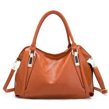 soft leather elegant designer handbag shoulder bag for women red cod