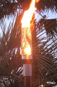 Image of: Tiki Torch Stand Type