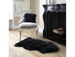 black sheepskin rug. New Zealand Genuine XL Sheepskin Rug Black