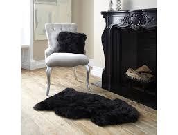 new zealand genuine xl sheepskin rug black