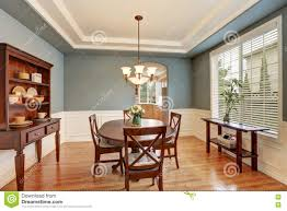 Classic American Design American Classic Dining Room Interior With Green Walls