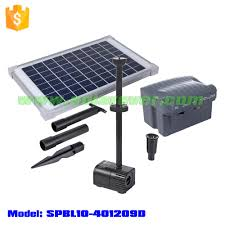 Solar Water Pump Kit With Led Lights New Solar Powered 10w Fountain Pond Pool Water Pump Kit With Timer Led Waterproof Lights Spbl10 401209 Buy New Solar Powered 10w