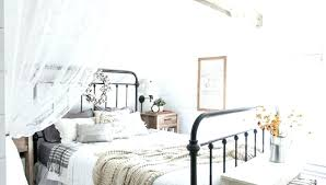 Bedroom Farmhouse Canopy Bed Metal Frame Queen Photo Album Home ...
