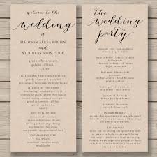 program template for wedding hey i found this really awesome etsy listing at https www etsy
