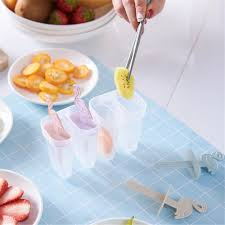 4pcs cartoon diy ice cream mold popsicle mould