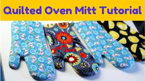 Oven Mitt Pattern Interesting How To Make An Oven Mitt FREE Pattern Tutorial YouTube