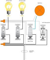 wiring ceiling fan for bathroom Bathroom Light Fan Wiring Diagram Wiring a Light Fan Combination