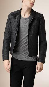 Burberry Diamond Quilted Harrington Jacket in Black for Men | Lyst & Gallery Adamdwight.com