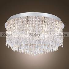 38 creative commonplace candice chrome and crystal semi flush with flush mount chandelier and ceiling