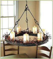 round pillar candle chandelier hanging holder outdoor