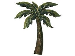 metal wall art palm trees tree decor elegant leaf outdoor w