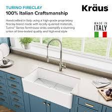 Kraus Kfr1 33gwh Turino Reversible 33 Inch Fireclay Farmhouse Flat