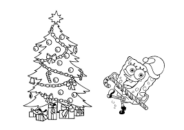 Spongebob Christmas Coloring Page Coloring Home