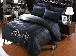 67 3d black panther printed polyester 5 piece comforter sets