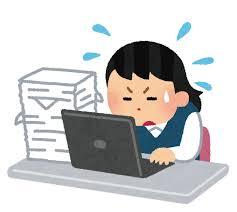 忙しく仕事をしている女性会社員のイラスト | かわいいフリー素材集 ...