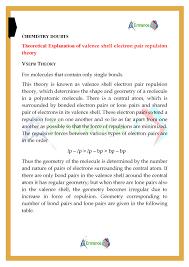 Vserp Theory Postulates Chart Vsepr Theory Examples Chart