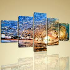 large canvas hd prints sea ocean wave office decorative wall art framed 5 pcs