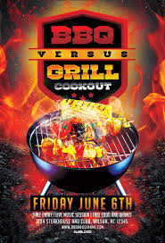 Flyers Grill Cover Bbq Grill Cookout Flyer Template Download