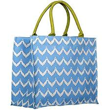 Rock Flower Paper Rock Flower Paper Fashion Market Totes Chevron Blue