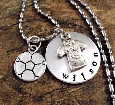charm accents on twitter soccer ball necklace soccer jersey jewelry personalized soccer j s t co cizqlalong etsy soccerballjewelry