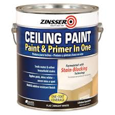 Zinsser 1 Gal Ceiling Paint And Primer In One Case Of 2 260967