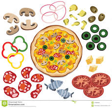 Small Picture Pizza Topping Coloring Page Free Here