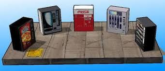 Papercraft Vending Machine Cool New Paper Craft] Several Vending Machine Paper Models For Diorama