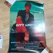 City Lights Poster Baekhyun Baekhyun City Lights Night Ver Poster K Wave On Carousell