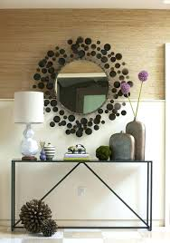 contemporary foyer tables latest modern console ideas magnificent table and mirror set decorating round entry