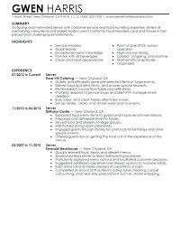 Barback Resume Sample Resume Serving Resume Examples Restaurant