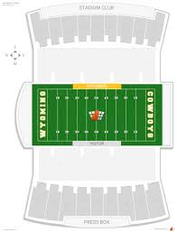 University Of Wyoming Football Stadium Seating Chart War Memorial Stadium Wyoming Seating Guide Rateyourseats Com