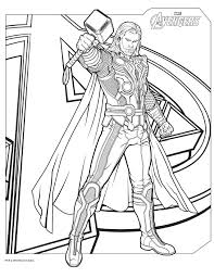Small Picture The avengers coloring pages thor ColoringStar