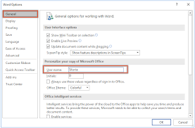 How To Change The Author Name For Comment In Word