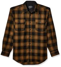 Pendleton Shirt Size Chart Pendleton Mens Long Sleeve Button Front Classic Fit Guide Shirt