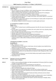 Vendor Management Analyst Resume Samples Velvet Jobs