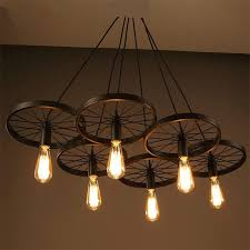industrial contemporary lighting. aliexpresscom buy wrought iron wheel pendant light vintage industrial lighting loft lamp bar american country style design for home pll 726 from reliable contemporary