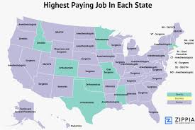 high paying writing jobs zippia maps show the highest and lowest  zippia maps show the highest and lowest paying jobs in each state zippia
